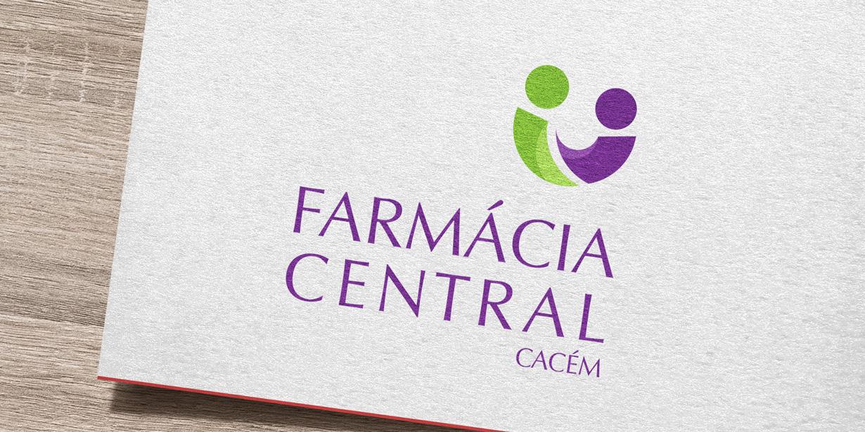 Logótipo e estacionário Farmácia Central 2